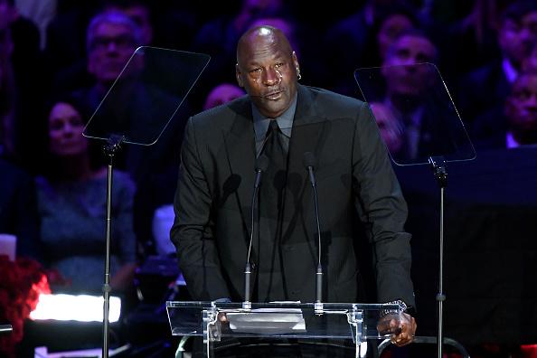 จอร์แดน NBAกล่าวสุนทรพจน์ไว้อาลัย นักบาส โคบี ทั้งน้ำตา