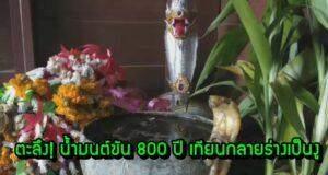 ตะลึง! น้ำมนต์ขัน 800 ปี เทียนกลายร่างเป็นงู