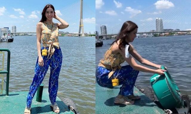 ไอซ์ อภิษฎา นางร้ายหุ่นเป๊ะ เจอชาวเน็ตดราม่าหนัก คลิปทำบุญ ปล่อยปลาลงแม่น้ำ